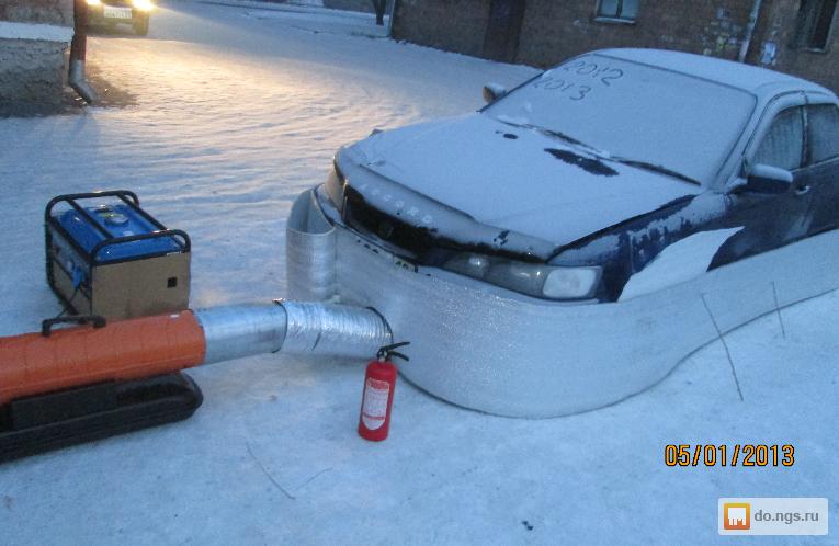 Как отогреть двигатель в мороз своими руками 60